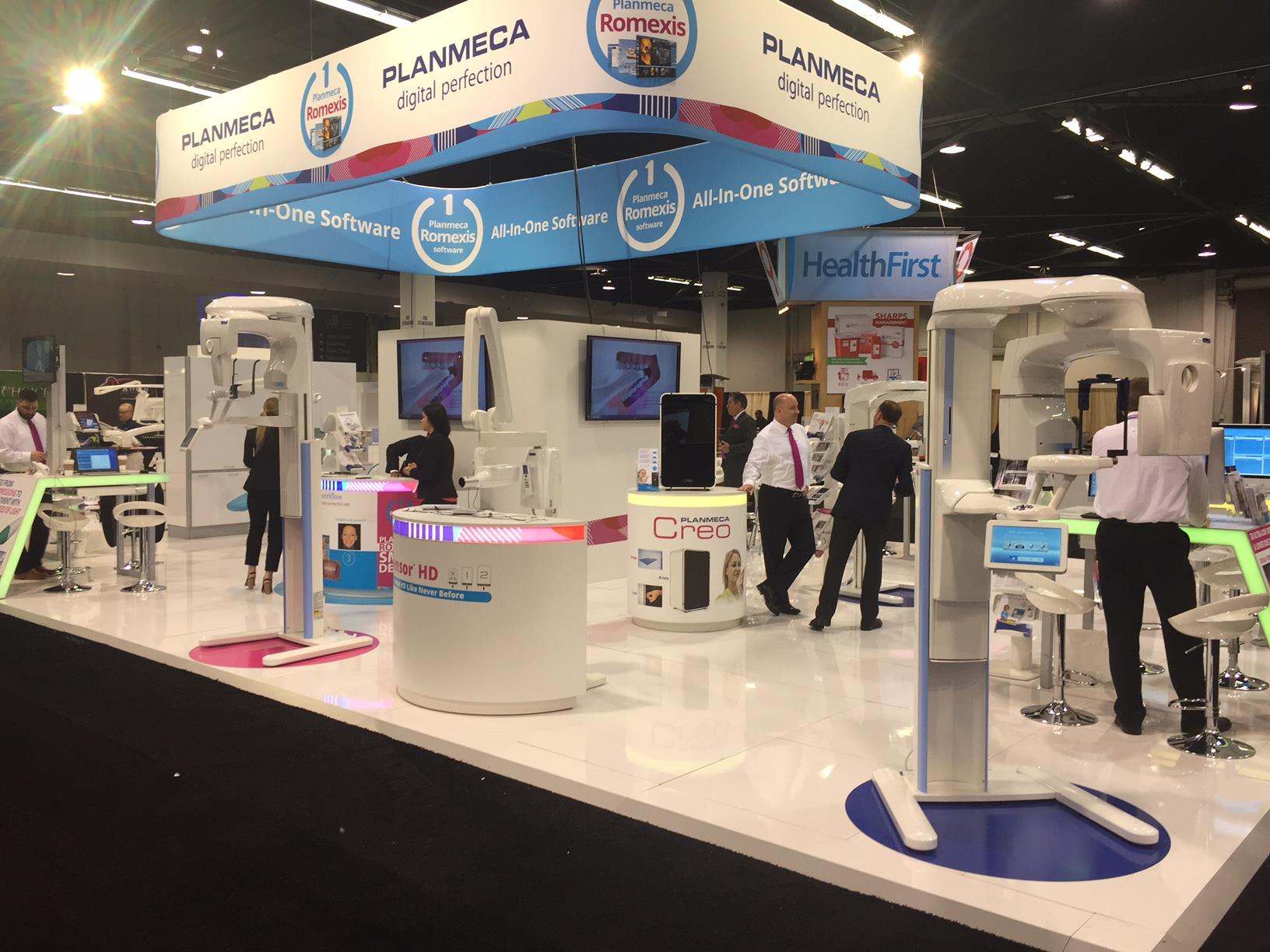 Planmeca Large Booth Exhibit at Trade Show