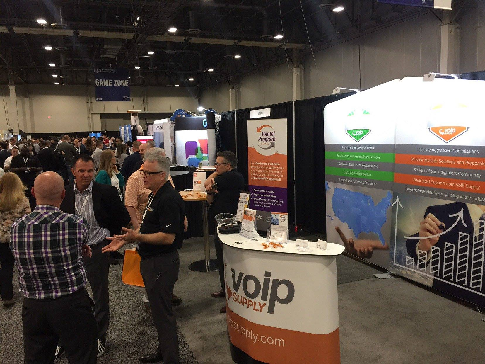 VoIP Supply Booth at Trade Show