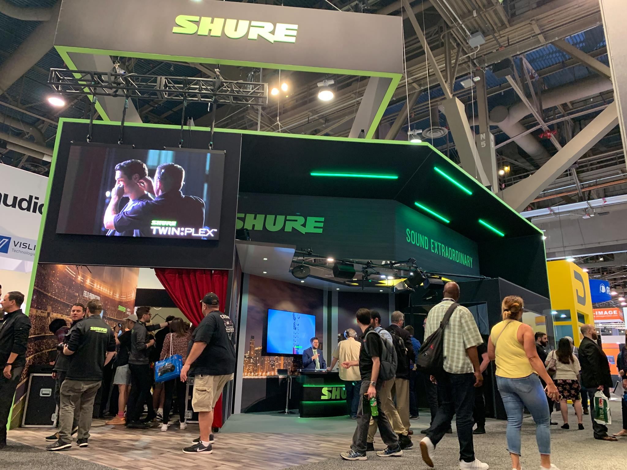 Shure Large Booth Exhibit at Trade Show