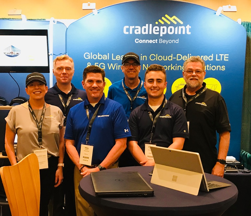 Happy Cradlepoint Reps at a Trade Shows
