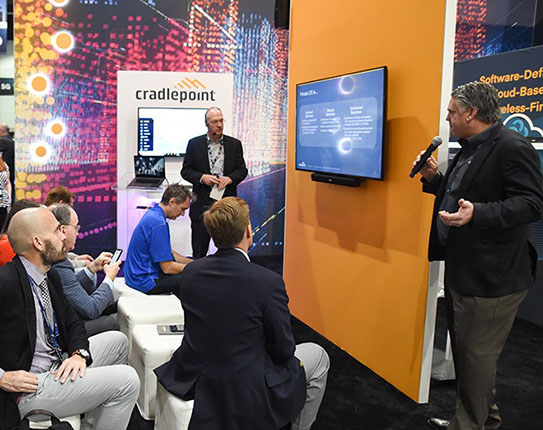 Cradlepoint Large Booth Exhibit at Trade Show