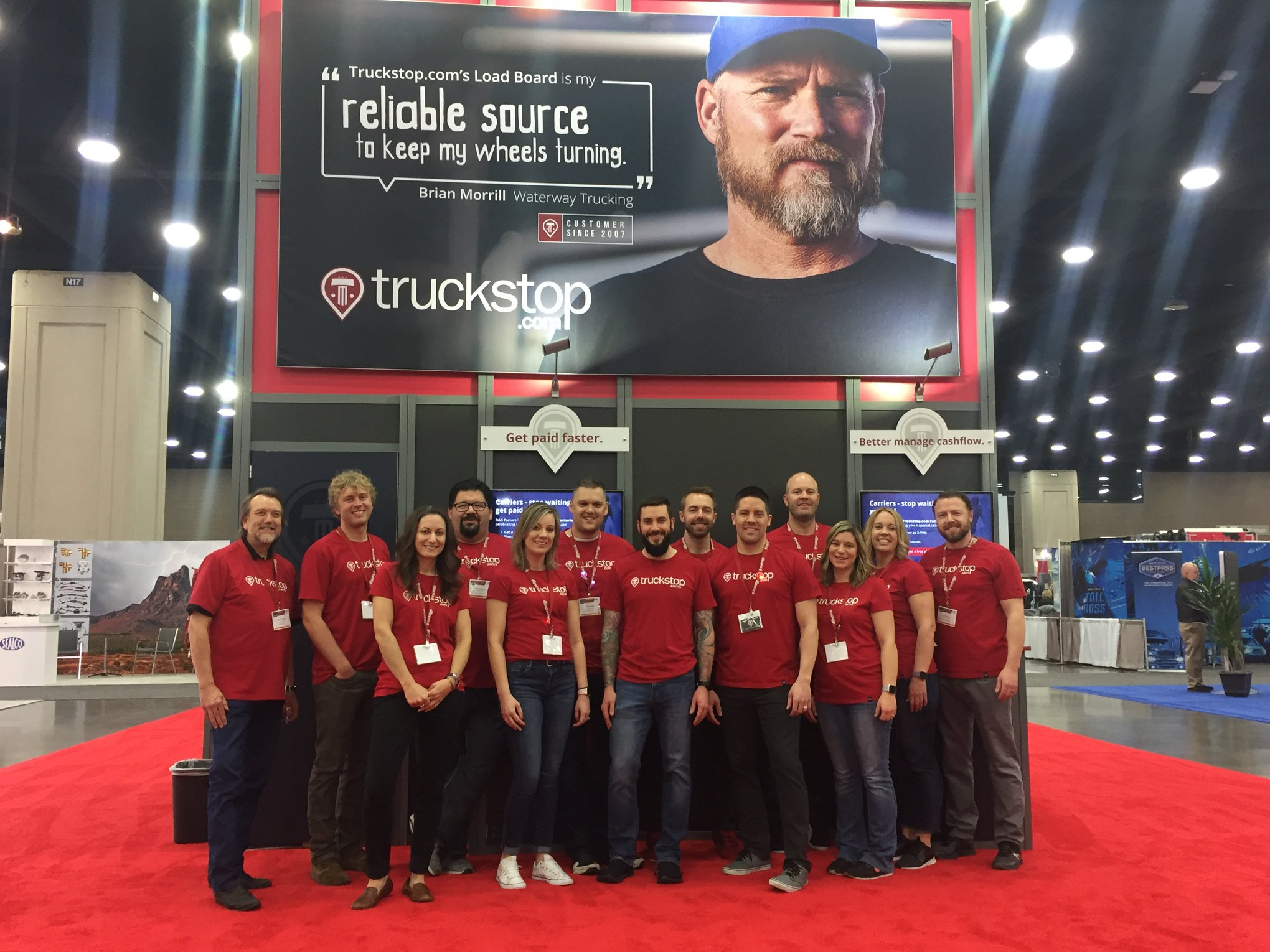 Truckstop.com team at a trade show with iCapture