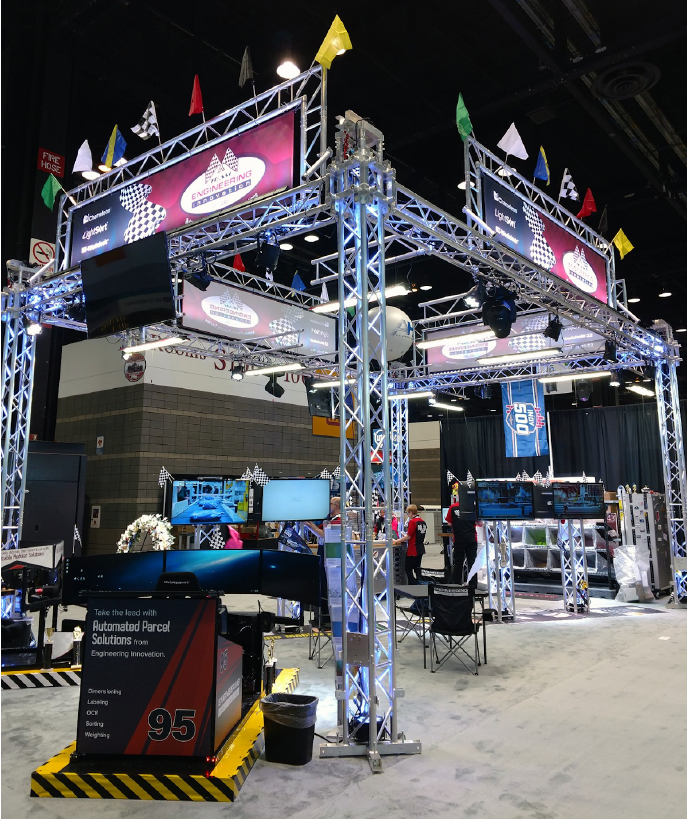 Engineering Innovation Large Exhibit Booth at Trade Show