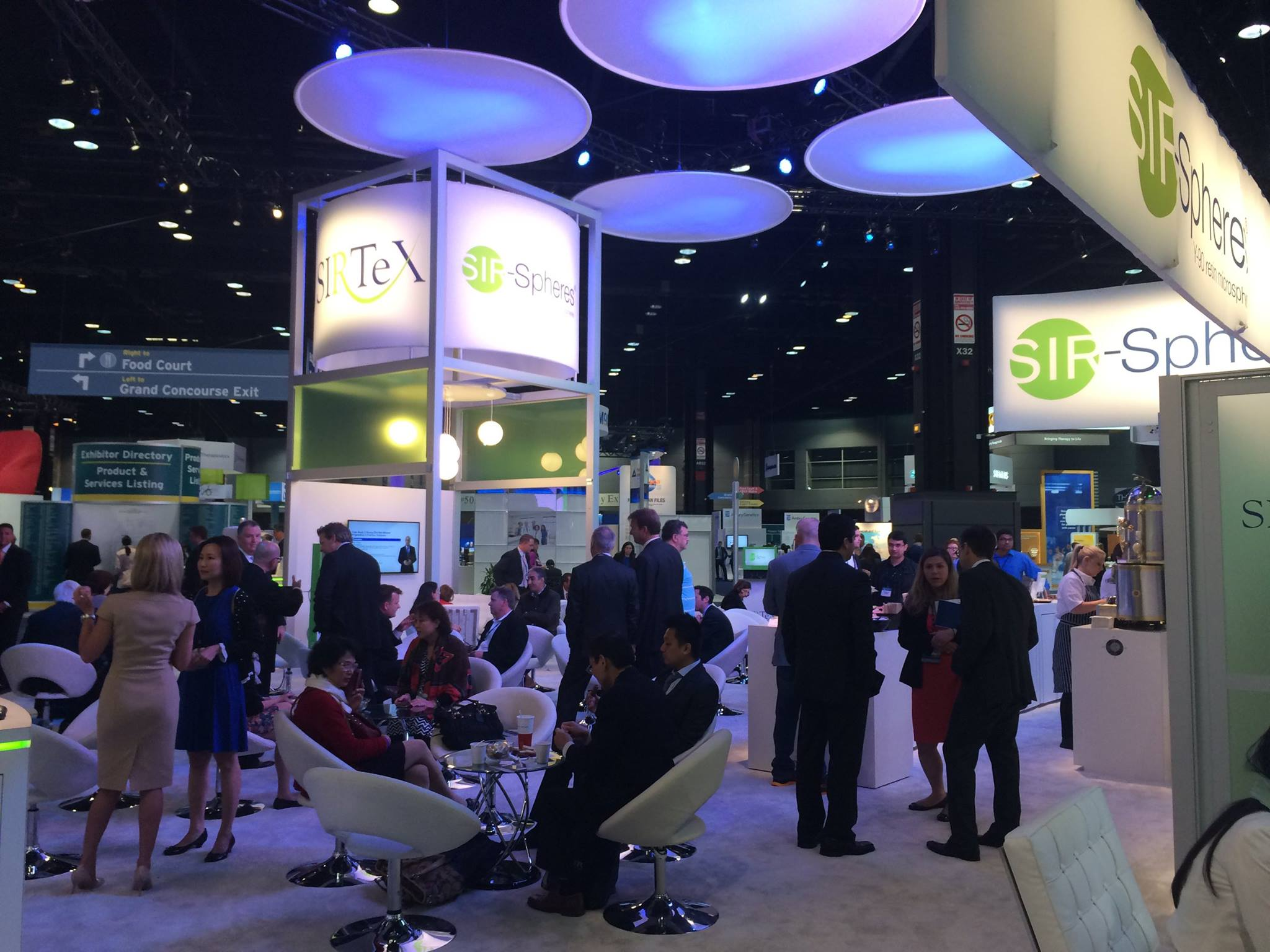 Large Booth Exhibit Sirtex at Trade Show